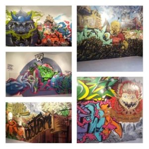 Graffiti at the Radikal Forze 15th Anniversary Jam Venue in Singapore